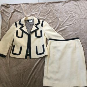 Etcetera beige/brown two pieces skirt suit 6